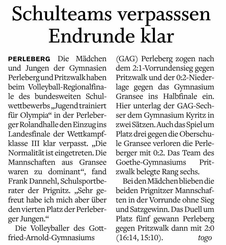 PR 16.1.16 Volleyball Endrunde verpasst.PNG