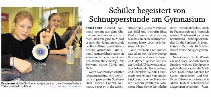 PR 26.1.16 Bericht Schnupperunterricht