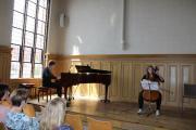 Jannes Wendt am Klavier und Maria Bock am Kontrabass