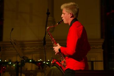 Jonas Wieck am Saxofon