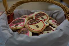 Kekse mit einem Motiv gegen Rechts