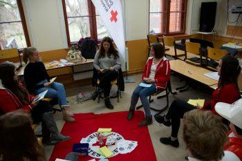 Vorstellung des DRK bei dem Tag der dualen Ausbildung 2019