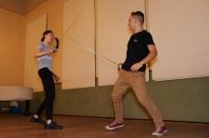 Matthias Schulz und Weking Lilge aus der Jgst. 11, während einer Schauspielszene